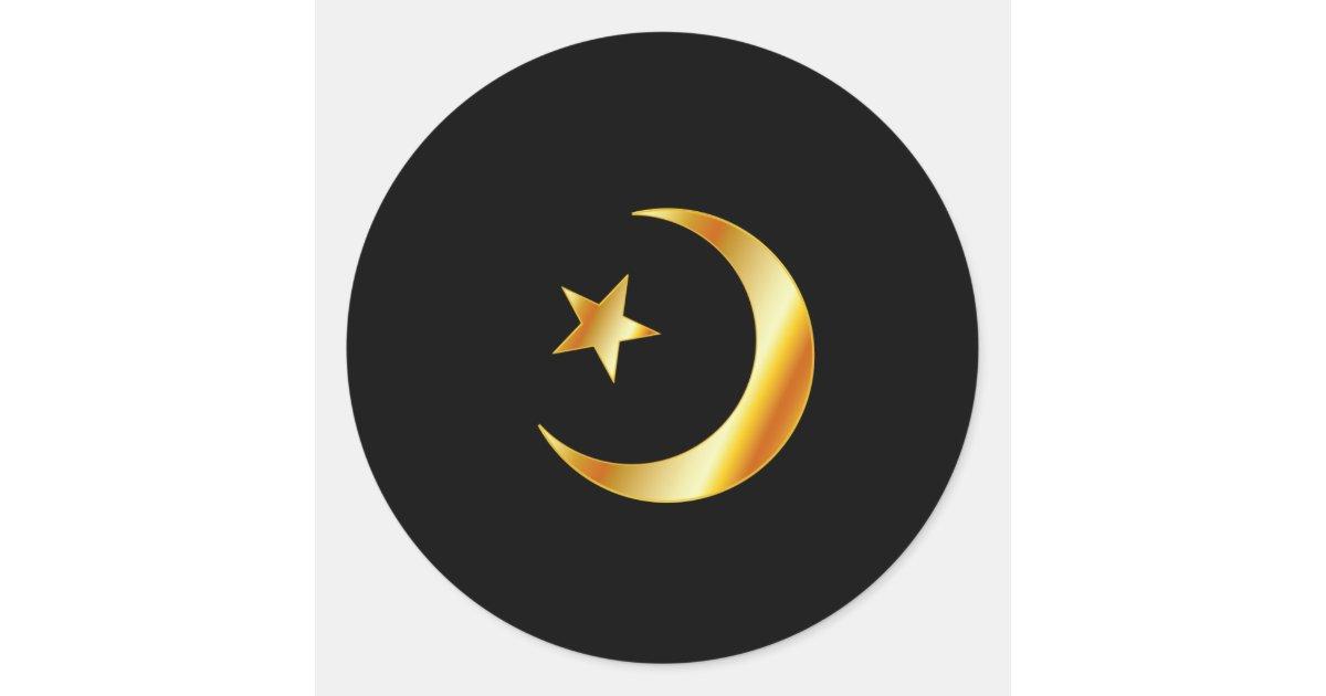Symbol Of Islam Religion Classic Round Sticker Zazzle