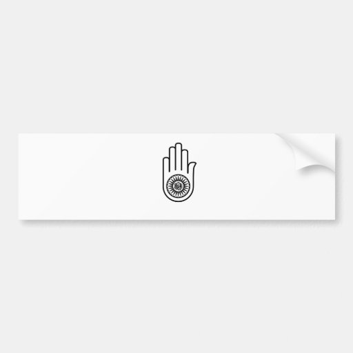 Symbol of Jainism- Ahimsa Bumper Sticker