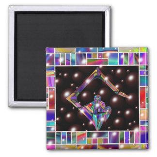 Symbol of Light Square Magnet