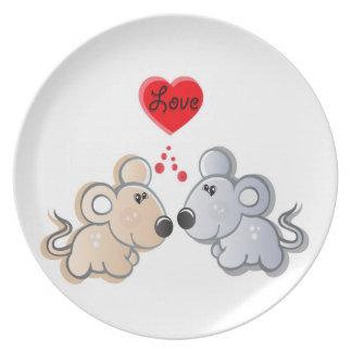 symbol of love plate