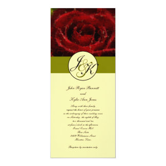 Symbol of Love Red Rose Invitation