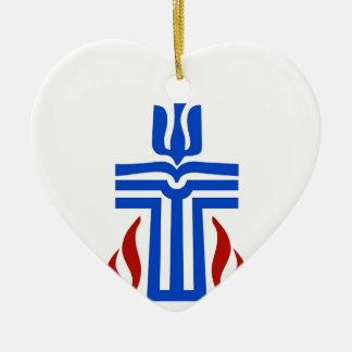 Symbol of Presbyterian religion Ceramic Heart Decoration