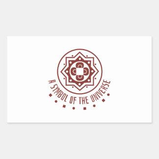 Symbol of universe rectangular sticker