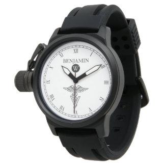 Symbol of Veterinary Medicine Custom Name Watch