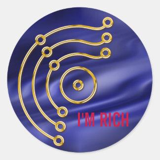Symbol RUNA GOLD I M RICH blue waves Stickers