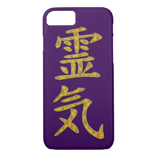 Symbol / Sign REIKI gold + your backgr. iPhone 7 Case