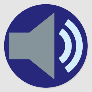 Symbol sound audio sticker