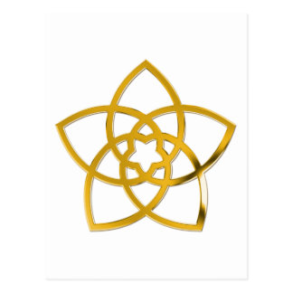 Symbol Venus Flower / GOLD Post Cards