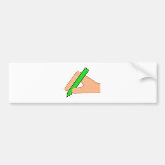 Symbol write hand pin write pen bumper stickers