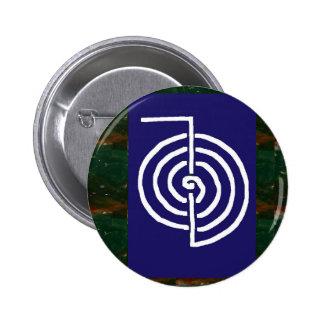 Symbolic Art : Reiki Chokurai 6 Cm Round Badge