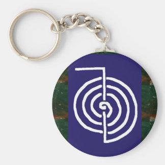 Symbolic Art : Reiki Chokurai Basic Round Button Key Ring