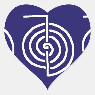 Symbolic Art : Reiki Chokurai Heart Sticker