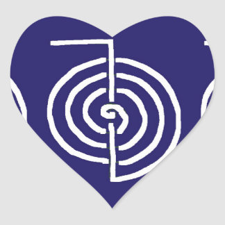 Symbolic Art : Reiki Chokurai Heart Sticker