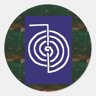Symbolic Art : Reiki Chokurai Round Sticker