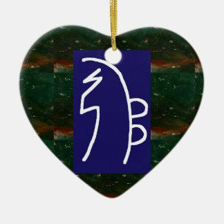 Symbolic ART : Reiki Chokurai Sayhaykey Ceramic Heart Decoration