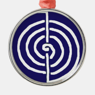 Symbolic Art : Reiki Chokurai Silver-Colored Round Decoration