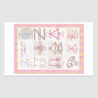 Symbolic ART : Reiki Masters Practice Tools Rectangular Sticker