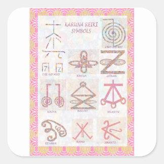 Symbolic ART : Reiki Masters Practice Tools Square Sticker