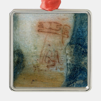 Symbolic figures (cave painting) christmas ornament