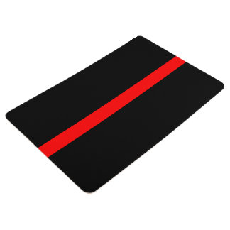 Symbolic Thin Red Line graphic design on Floor Mat