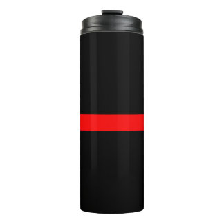 Symbolic Thin Red Line graphic design on Thermal Tumbler