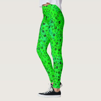 Symbolicon Green Leggings