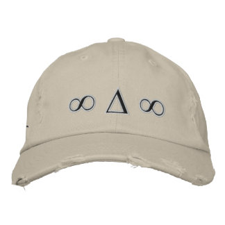Symbols Distressed Twill hat Embroidered Cap