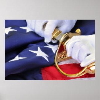 Symbols of A US Marine - Poster