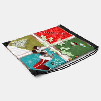 Symbols of Christmas Drawstring Bag