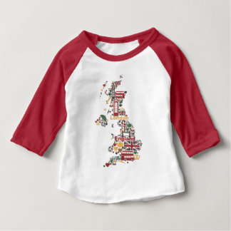 Symbols of England Map Baby T-Shirt