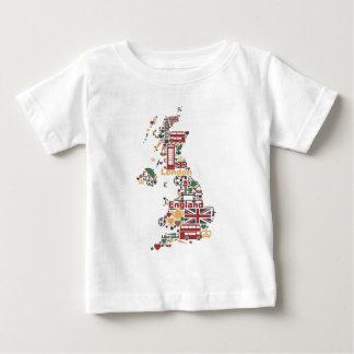 Symbols of England Map Baby T-Shirt