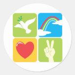 Symbols of Faith Hope Love and Peace