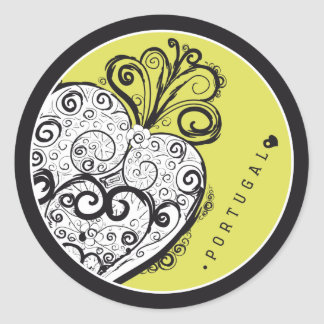 Symbols of Portugal - Filigree Filigrana Round Sticker