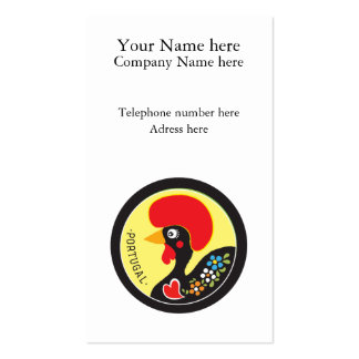 Symbols of Portugal - Galo de Barcelos Business Card Templates
