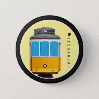 Symbols of Portugal - Lisbon Tramway 6 Cm Round Badge