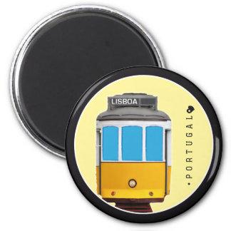 Symbols of Portugal - Lisbon Tramway 6 Cm Round Magnet