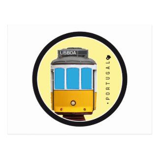 Symbols of Portugal - Lisbon Tramway Postcard