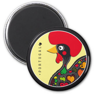 Symbols of Portugal - Rooster 6 Cm Round Magnet