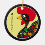 Symbols of Portugal - Rooster Double-Sided Ceramic Round Christmas Ornament