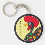 Symbols of Portugal - Rooster Basic Round Button Key Ring