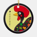 Symbols of Portugal - Rooster Round Ceramic Decoration
