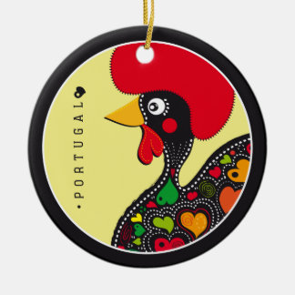 Symbols of Portugal - Rooster Round Ceramic Decoration
