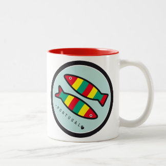 Symbols of Portugal - Sardines Two-Tone Mug