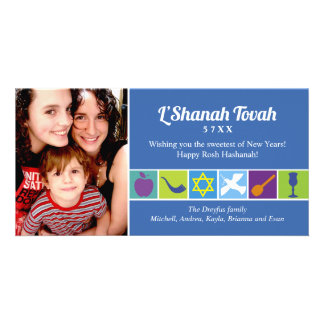 Symbols of Rosh Hashanah Photo Cards