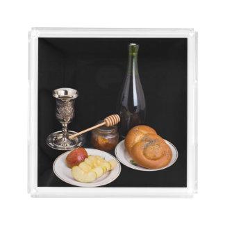 Symbols Of The Jewish New Year Acrylic Tray