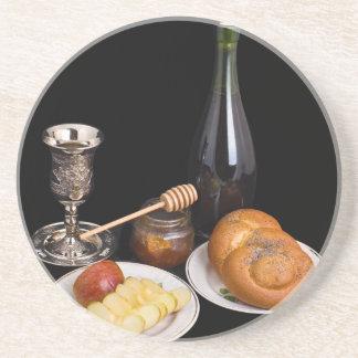 Symbols Of The Jewish New Year Coaster