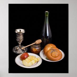 Symbols Of The Jewish New Year Poster