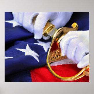 Symbols Of United States Marine Corps Poster