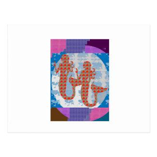 Symbols Zodiac Astrology Fortune+teller Healer FUN Postcard