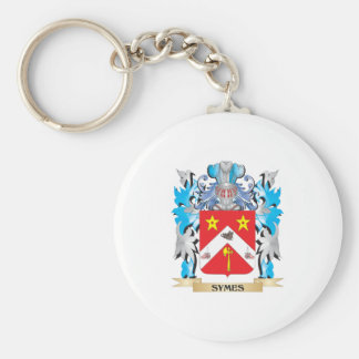Symes Coat of Arms - Family Crest Basic Round Button Key Ring